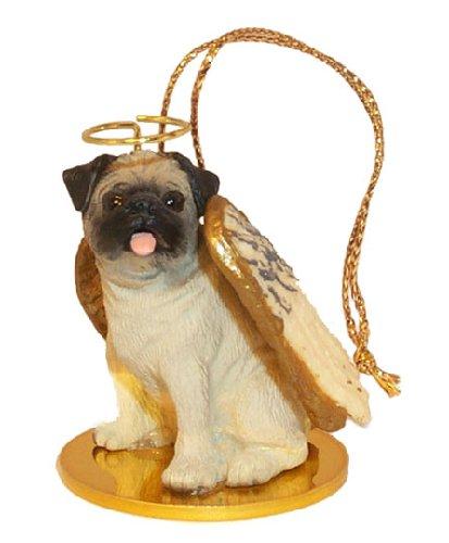 Brown Angel Dog Ornament - 8