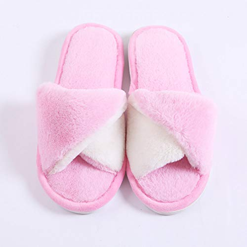 Inverno Le Dongtx Invernali Confortevole Donne Per Caldo Pantofole Interni Casa Pink1 Ciabatte Morbide YgYwqTF