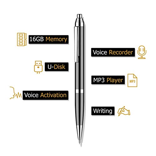 DSLeo 16Gb Digital Voice Recorder Voice Activated Recorder with Playback, Small Tape Recorder for Lectures, Meetings, Interviews, Audio Recorder with USB
