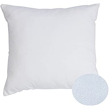 """White Cotton Throw Pillow Covers For Couch/Bed/Chair/Nursery, Mosong Ultra Soft Cotton Zippered Washable Pillow Protector , 18""""x 18"""" (1PC, Pure White)"""