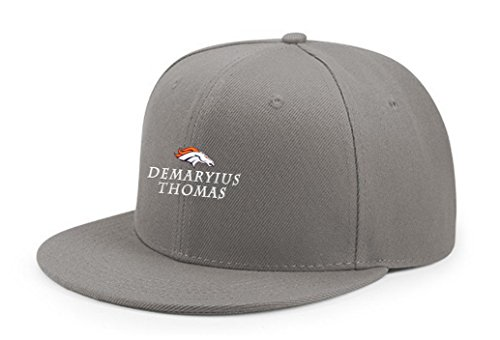 Sky-Wear Demaryius Favorite Player Thomas Embroidery Adjustable Snapback Baseball Cap Hip Hop Hat Gray