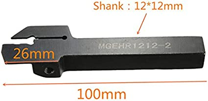 LXJLXJ MGEHR1212-2 Tour rainurage Porte-Outil 10Pcs MGMN200 Set Inserts L Outil cl/é de Remplacement