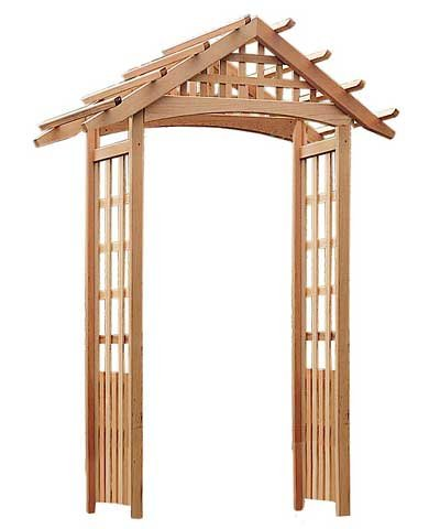 Arboria Nantucket Garden Arbor Cedar Wood 90 Inches High Extra Strong to Hold Heavier Vines and (Cedarwood Arbor)