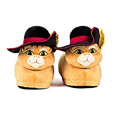 Sleeper'z Zapatillas de casa el Gato con Botas Originales - Shrek - Adultos y Niños - Hombre y Mujer – 2X