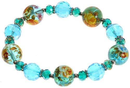 Lova Jewelry Aqua Murano Glass Bracelet (Bracelets Aqua Murano)