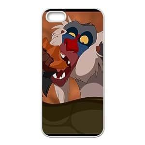 iPhone 5 5s Cell Phone Case White Disney The Lion King Character Rafiki 008 LQ7409638