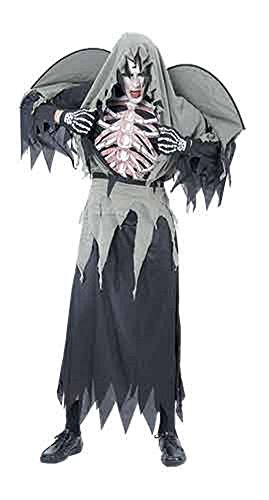 Number One Halloween Costume 2016 (Adults Ladies Mens Halloween Warlock Costume Onesize fits 4-10 (Onesize (4-10), Black))