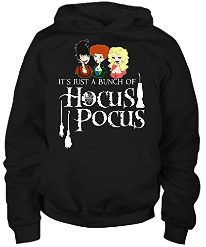Costums For Halloween (Youth Hoodie - It's Just A Bunch Of Hocus Pocus -funny Halloween Costum Shirt For men women kids boy and girl)