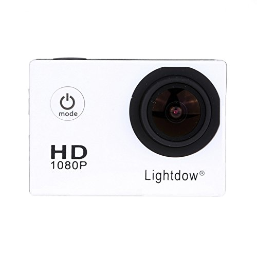 Lightdow LD4000 1080P HD Sports Action Camera Bundle with DSP:NT96650 Chip, 1.5-Inch LPS-TFT LCD, 170° Wide Angle Lens and Bonus Battery (White) Action Cameras ZLY Technology