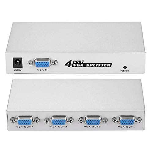 (IMAGE 1 PC to 4 Monitors Splitter Box VGA/SVGA LCD CRT 4 Port Video)