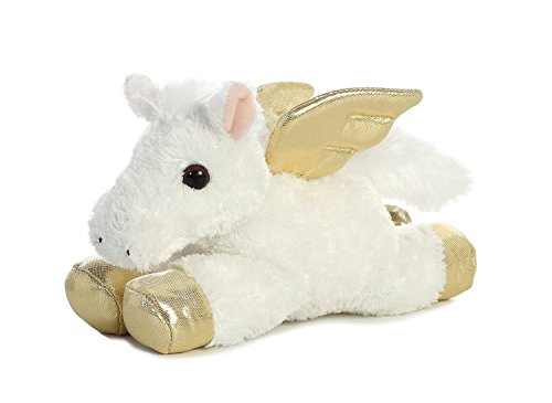Aurora World Mini Flopsie Toy Pegasus Flying Horse Plush, 8""