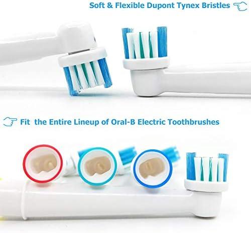 Têtes de rechange pour brosse à dents électrique Têtes de brosse à poils doux Compatible avec Braun Oral B