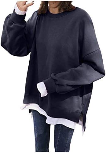 レディース 秋冬 トップス 無地 長袖 ラウンドネック 帽子なし カジュアル 温かい スウェット 女性 Tシャツ シンプル 柔らかい 大人しい 韓国風 ゆったり プルパーカー 普段着 学生 旅行 通勤 部屋着 アウトドア Masinalt