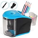 Electric Pencil Sharpener, INVOKER Auto Pencil Sharpener Heavy Duty Helical Blade for #2/ Colored Pencils to Fast Sharpen, School Supplies for Office Classroom Home (USB Adapter Included)