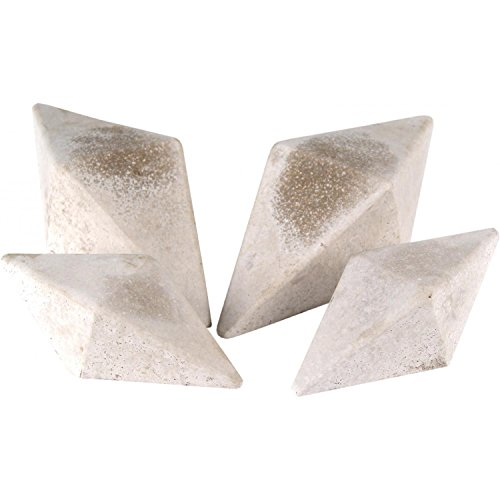 Peterson Gas Logs Decorative Geo Shapes Ivory 4-sided Diamon