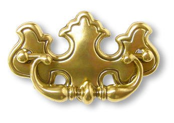 Reproduction Antique Hardware - Chippendale Antique Brass Drawer Bail Pull Handle 2-1/2