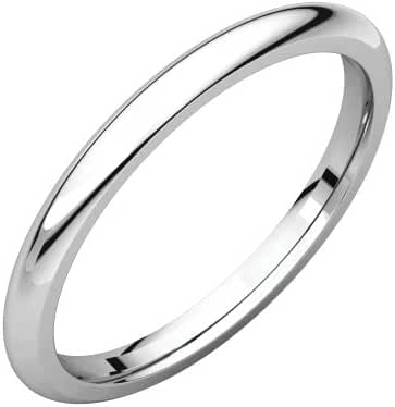 Platinum 2mm Comfort Fit Band, Ring Size 5.5