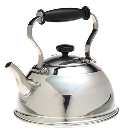 (Ship from USA) Copco Cambridge Stainless-Steel Teakettle, Old Fashioned Look, Non Whistling /ITEM NO#8Y-IFW81854242340