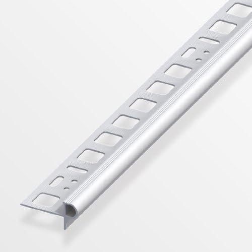 Alfer Florentiner-Treppenkantenprofil 10mm//250cm Aluminium eloxiert silber