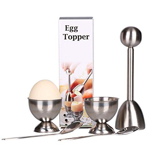 MGEGG Egg Cutter Topper Set Egg Cracker for Hard & Soft Boil