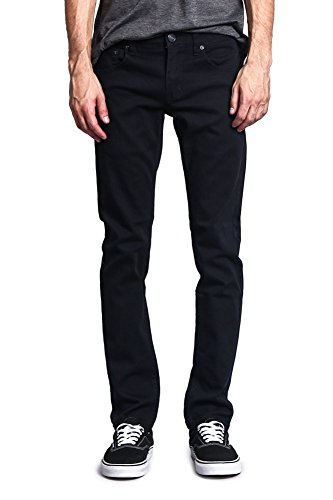 Victorious Men's Skinny Fit Color Stretch Jeans DL937 - Navy - 30/34