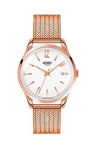Henry London Ladies Analogue Richmond Watch with Rose Gold Bracelet HL39-M-0026