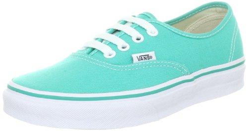 Vans Authentique Vqer6lk Unisexe - Adultes Chaussures De Sport Classique Vert (piscine / Blanc Vrai)