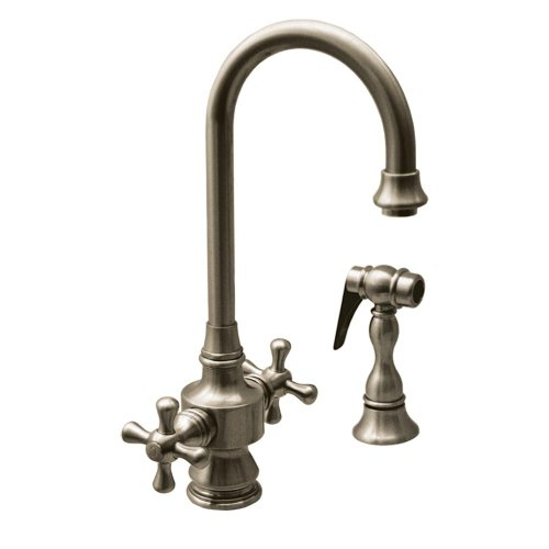 (Whitehaus Collection WHKSDCR3-8104-BN Prep Faucet, Brushed Nickel)