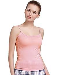 Women's Camisole Built-in Shelf Bra Adjustable Spaghetti Straps Tank Top