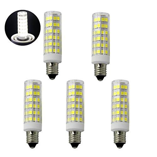 6W Mini Dimmable E11 LED Light Bulb, 60W or 75W Equivalent halogen bulb Repalcement 600 Lumens, Mini Candelabra E11 Base,110-130V, T4 /T3 JD Type Clear E11 light bulbs(Pack of 5)