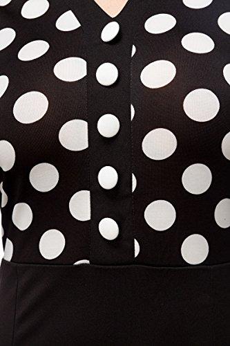 Etuikleid weiss schwarz Bleistiftkleid gepunktet Etuikleid weiss weiss gepunktet Bleistiftkleid Bleistiftkleid schwarz Etuikleid gepunktet schwarz Etuikleid qtqw6AxXPH