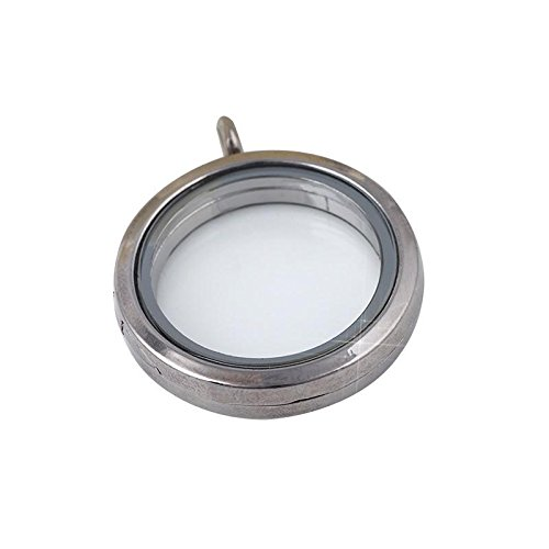 [Necklace, Hatop Round Floating Charm Memory Locket Necklace Pendants Glass Phase Box (Black)] (Diy Incredibles Costume)