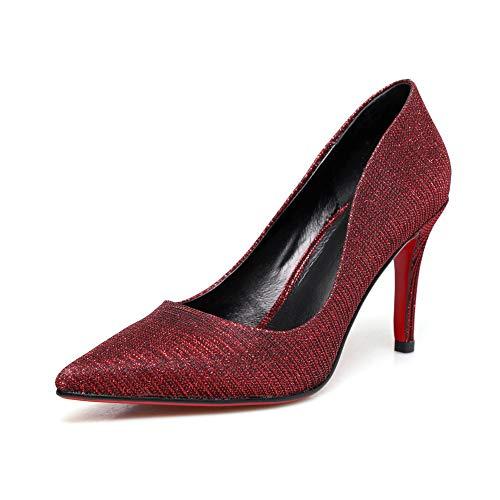 Femme EU Sandales 36 Rouge Aimint 5 ERR00093 Bordeaux Compensées OZqxtPtn