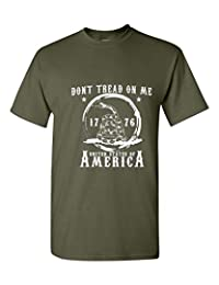 Don't Tread on Me USA America Mens Womens T-Shirt Top