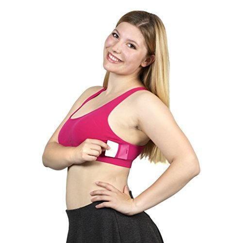Handee Bra M Pink Bamboo Soft Breathable Wickable Wire-Free for Comfort with Pockets