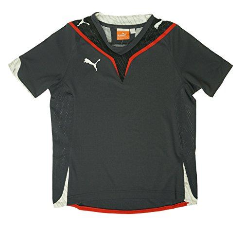 Puma v-Konstrukt Shirt Team Charcoal/Puma Red Youth Medium (Puma V-neck Jersey)