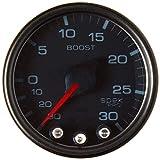 Auto Meter P30252 Gauge, Vac/Boost, 2 1/16'', 30Inhg-30Psi, Stepper Motor W/Peak & Warn, Smoke/Black, Spek-Pro