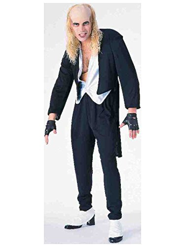 Forum The Rocky Horror Picture Show Riff Raff Complete Costume, Black, Standard (Fits Up To Chest Size -
