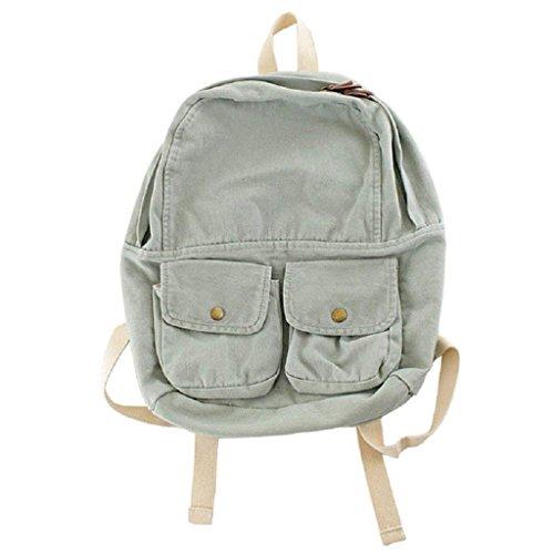 Dabixx donne tela zaini scuola ragazze Bookbag viaggio zaino a tracolla bags-blue, Brown, 31x12x36cm/12.2x4.72x14.17 Green
