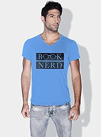 Creo Book Nerd Funny T-Shirts For Men - S, Blue