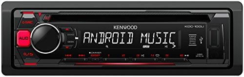 Kenwood KDC-100UR Autoradio USB/CD-Receiver mit Tastenbeleuchtung rot/schwarz