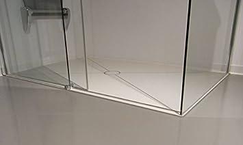 bodengleiche Dusche bis 1,0 m² - mit Kerlite einbaufertig belegt ...