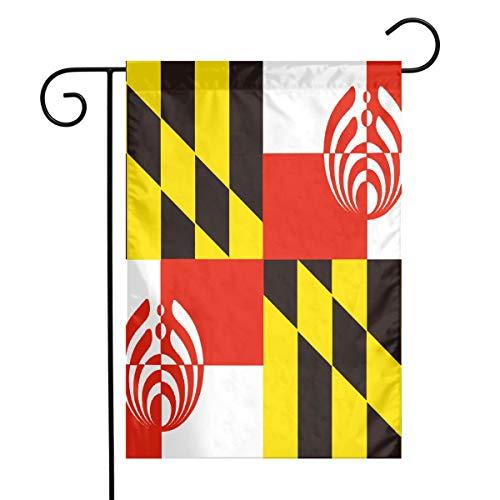 QG ZZX Garden Flag Maryland Bassnectar Flag Outdoor Seasonal Garden Flag for Decoration Christmas Fall Halloween Thanksgiving 12 X 18 Inch]()
