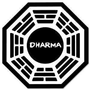 "4"" Dharma Lost Logo Vinyl Decal Bumper Sticker"