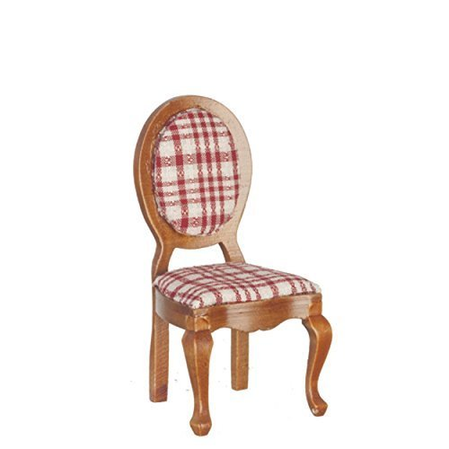 Melody Jane Dollhouse Walnut Mirror Back Side Chair Miniature Dining Room Furniture from Melody