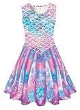 Mermaid Tail Dresses Girl Sleeveless Swing Party