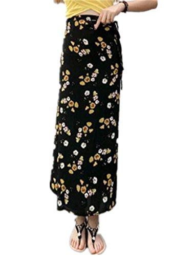 Vintage Longue De Yellow1 Imprimer ElGant Plage Jupe Skirt t Mousseline Femme Floral Glamour Jupe Vogue Lacets en Jupe Jupe Haililais Jupe PxRqI0Yx