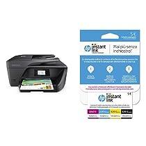 HP OfficeJet Pro 6960 Stampante Multifunzione con 3 Mesi di Prova Gratuita del Servizio Instant Ink + Instant Ink Enrollment Card Cartucce di Inchiostro, Tri-Color (Giallo, Magenta, Ciano)
