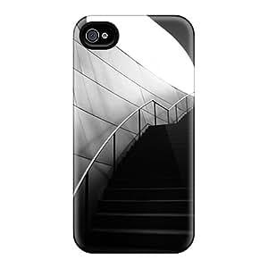 GuyMWam Iphone 4/4s Hybrid Tpu Case Cover Silicon Bumper Dark Stairs