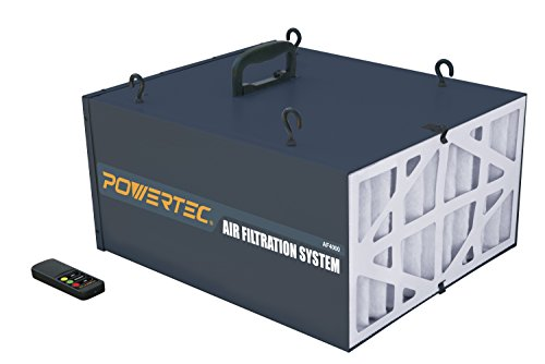 POWERTEC AF4000 3 SPD Air Filtration System, 300/350/400-CFM (Best Shop Air Filtration System)